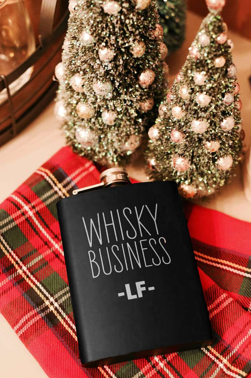 Great Christmas gift idea- Whiskey Business personalized flask