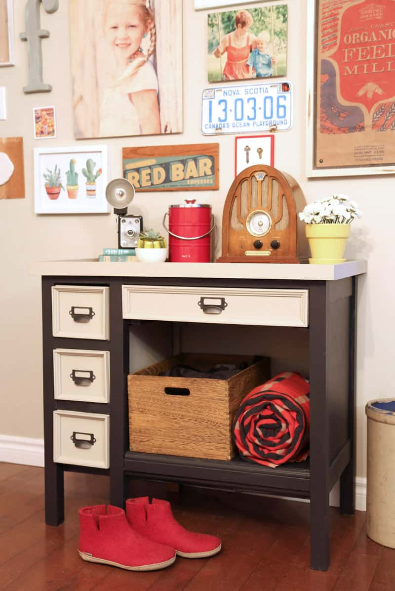 DIY old desk makeover, you should see the before!