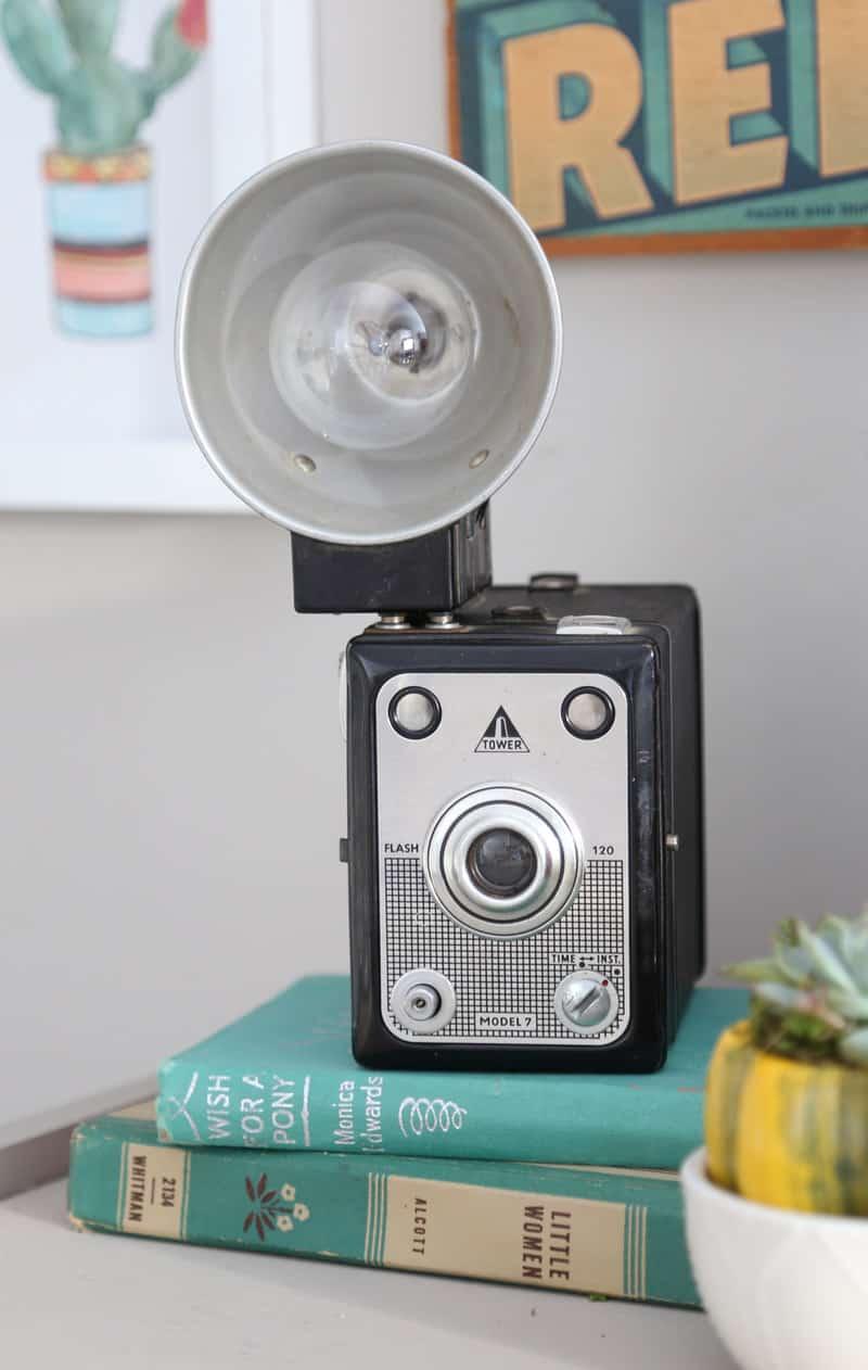 Vintage flash camera