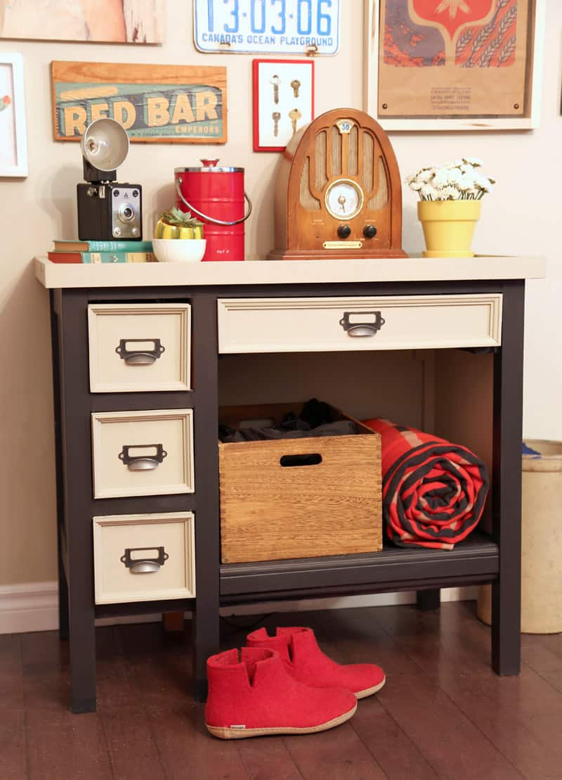 Desk makeover with Voice of Color paint