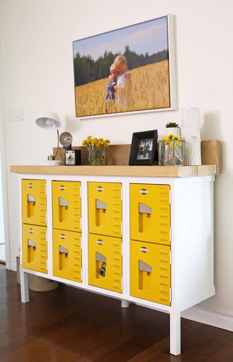 Bon Vintage Locker Entryway Table