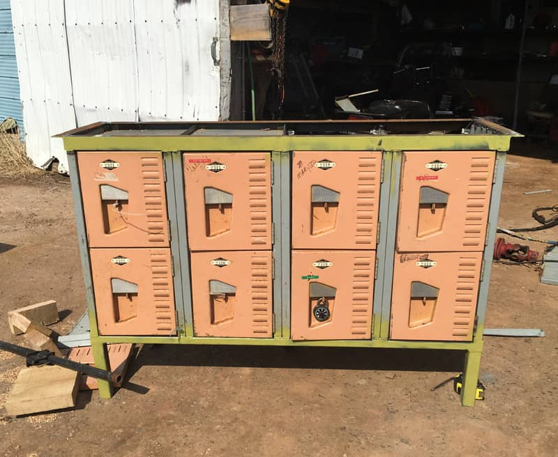 Vintage Locker Console Table Project