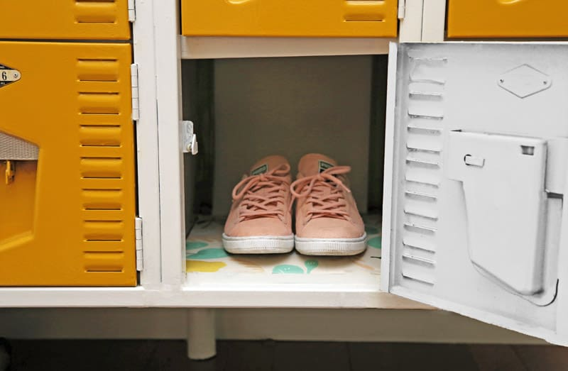 Using vintage lockers for storage