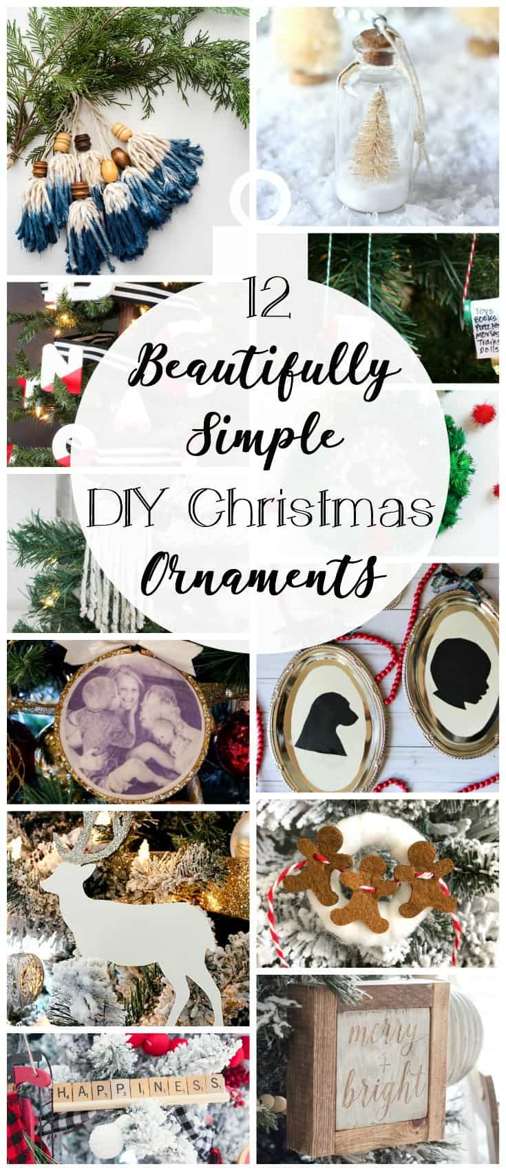 12 Beautifully Simple DIY Christmas Ornaments