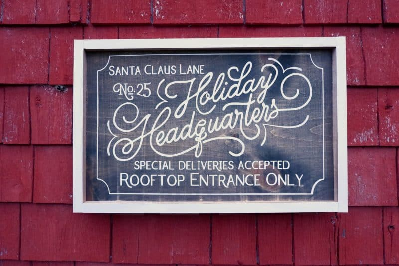 Holiday Headquarters Christmas painted signs SVG, Silhouette, and Cricut Cut files