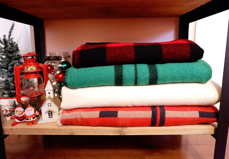 Christmas inspired wool blanket collection