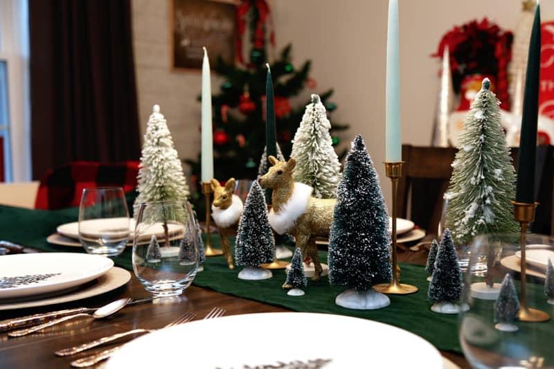 Christmas dining room table setting ideas