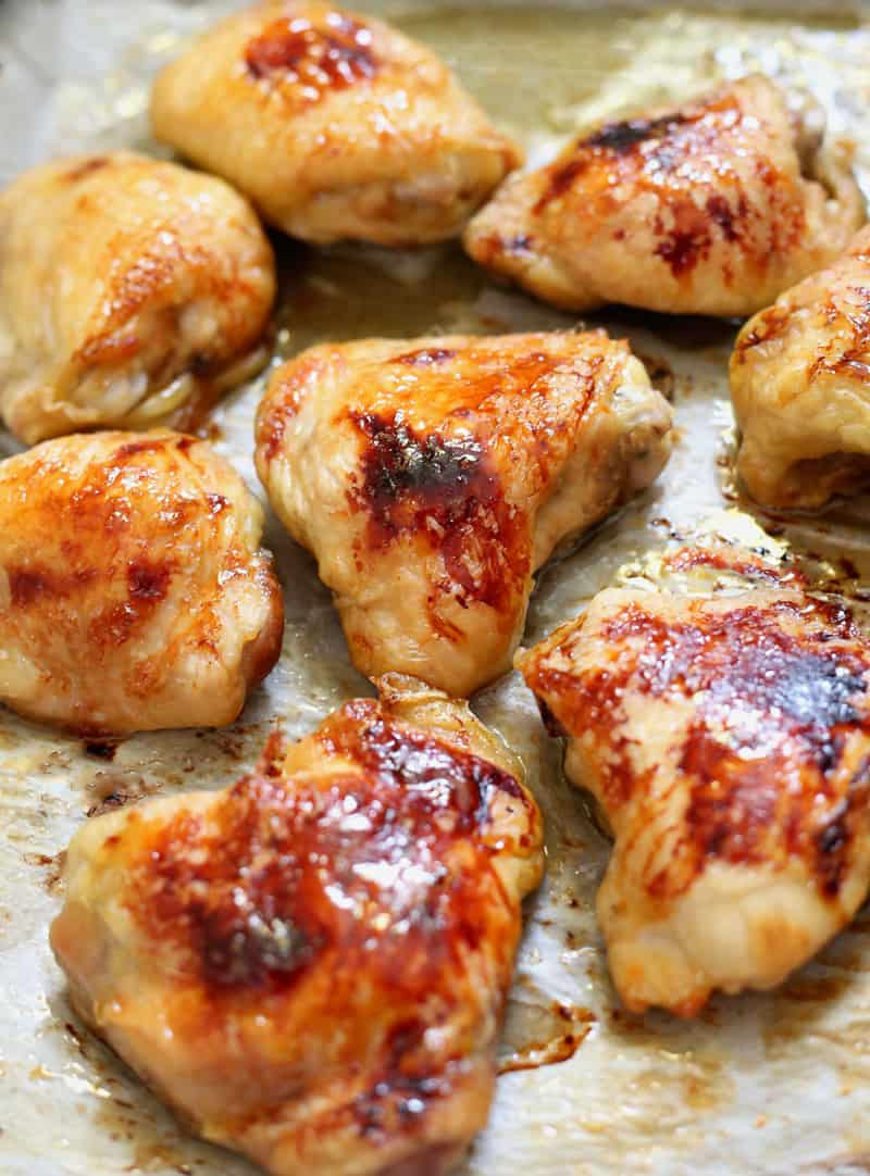 Honey Ginger Chicken Thighs