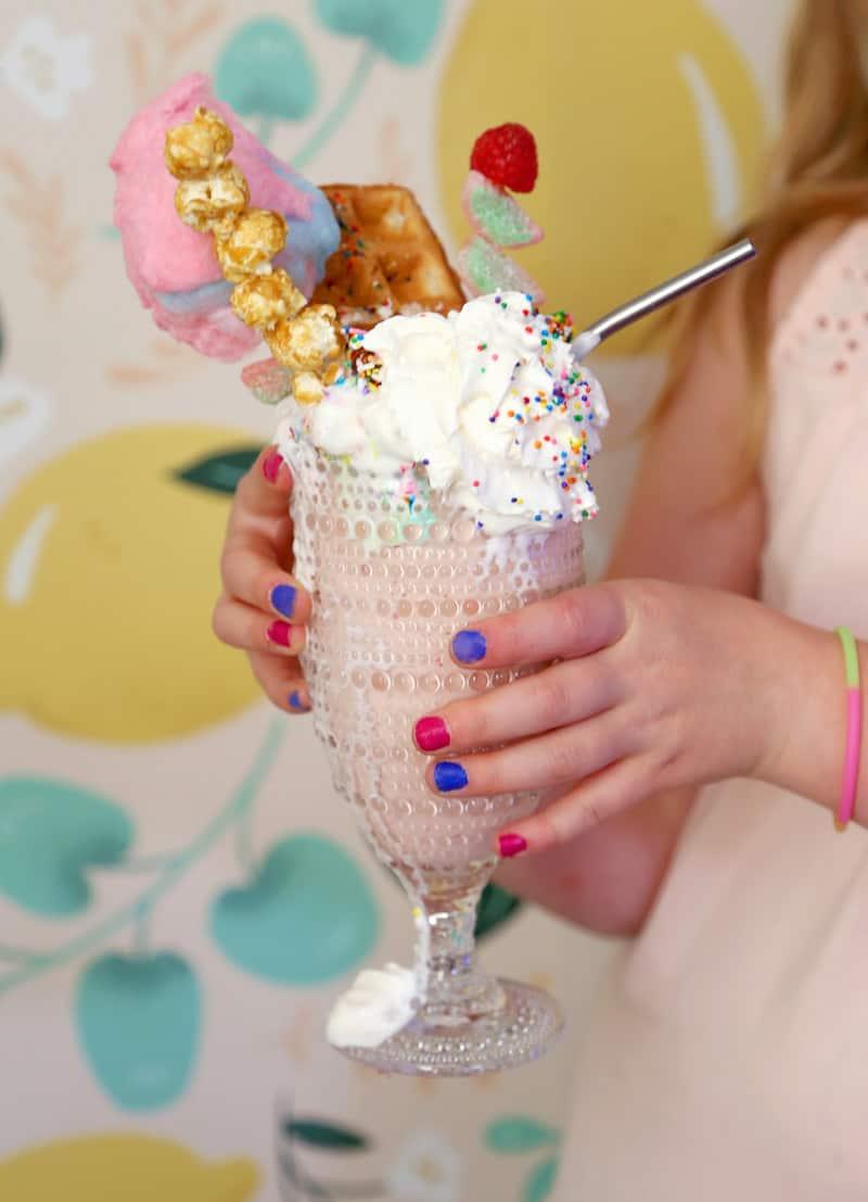 How to make a Freak Shake. Tropical Vanilla Strawberry Milkshake