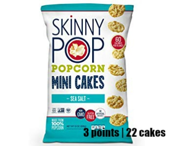 Low Point Weight Watchers snacks under 3 points featured by top US life and style blog, Fynes Designs: Skinny Pop mini cakes