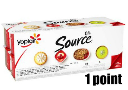 Low Point Weight Watchers snacks under 3 points featured by top US life and style blog, Fynes Designs: Yoplait 0% fat yogurts