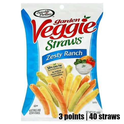 Low Point Weight Watchers snacks under 3 points featured by top US life and style blog, Fynes Designs: Gardens veggie straws ranch