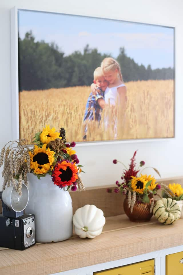 Incorporate fall flowers into your home decor