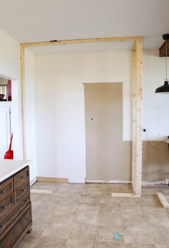 framing the pantry