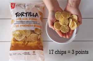 Low Point WW snack ideas- Nacho chip rounds |Weight Watchers Snacks by popular Canada lifestyle blog, Fynes Designs: image of Tortilla bite size rounds.