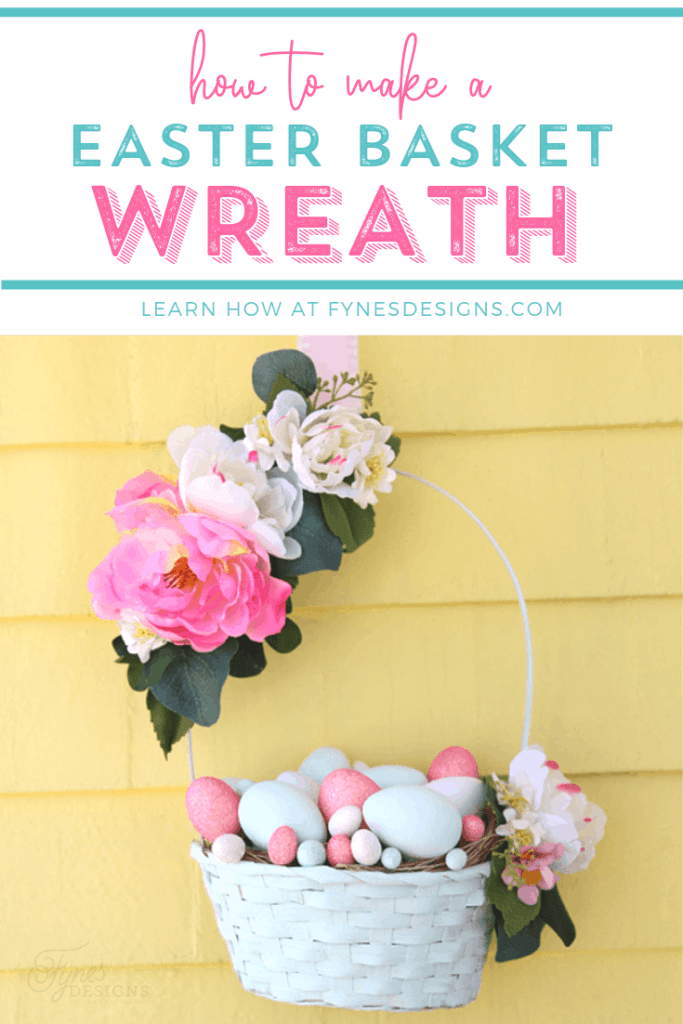 Learn how to make an Easter Basket wreath for your front door for only $10!