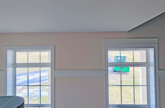 window trim, before and after adding a header