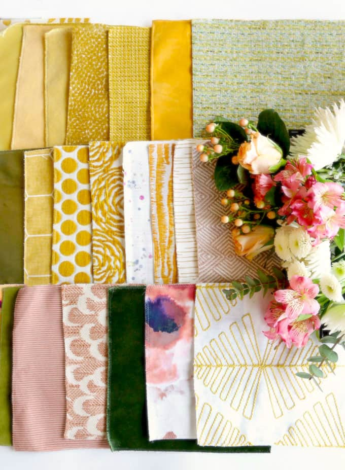 Maxwell fabric samples using their Memo service.