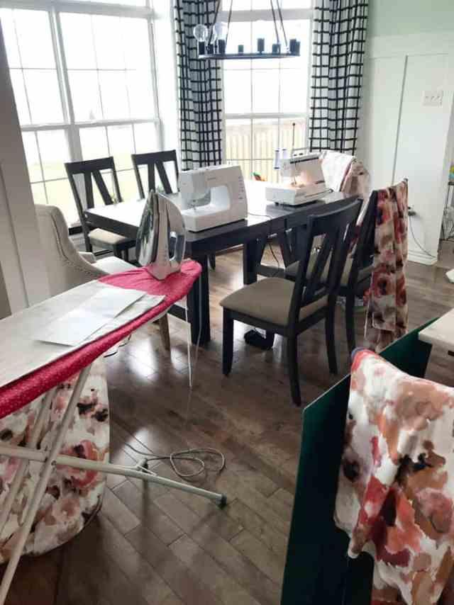 Making drapes One Room Challenge week 5