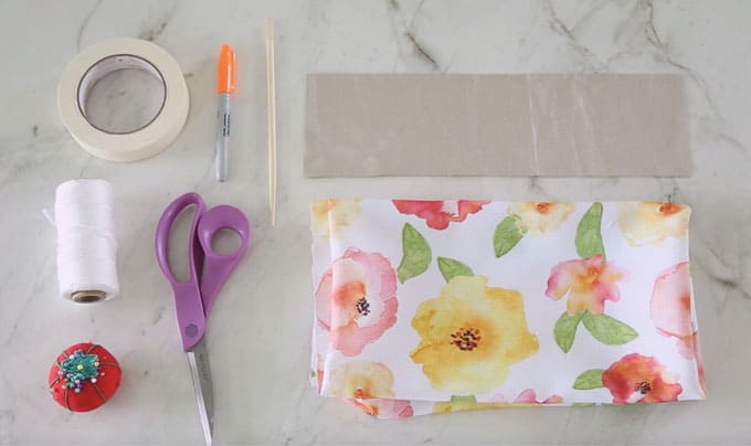 How to Sew a DIY Floor Pillow tutorial featured by top US craft blog, Fynes Designs: image of pillow supplies