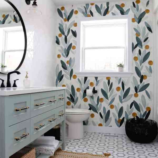 colourful bathroom makeover