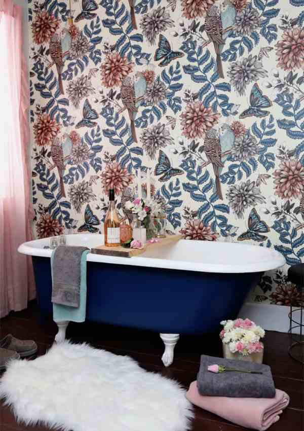 Before and After DIY Floral Weekend Bathroom Makeover