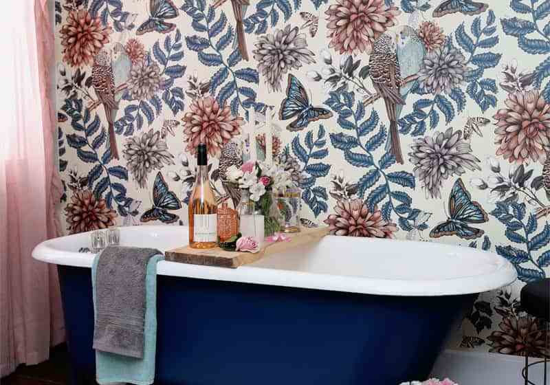 Before and After DIY Floral Weekend Bathroom Makeover featured by top DIY blog, Fynes Designs:
