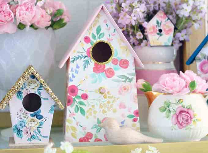 How to Customize your Dollar Store Birdhouse Kit , a tutorial featured by top craft blog, Fynes Designs.