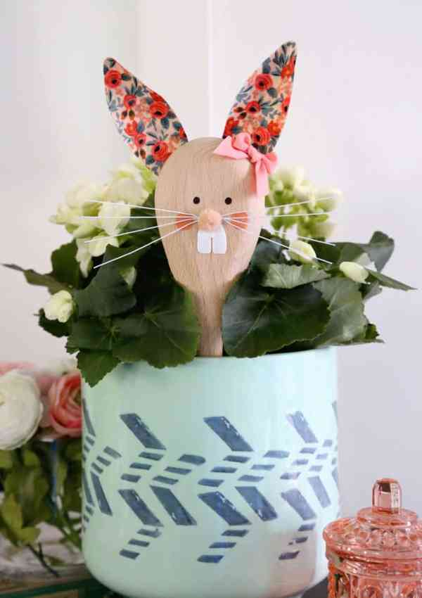 Easter Bunny Crafts: How to Make a Cute Wooden Spoon Easter Bunny