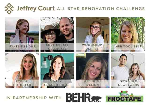 2020 JC renovation challenge contestants | Jeffrey Court Renovation Challenge Basement Airbnb makeover | Jeffrey Court by popular US interior design blog, Fynes Designs: collage image of Jeffrey Court renovation challenge contestants.