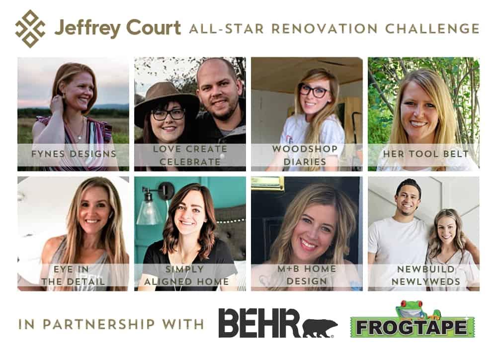 2020 JC renovation challenge contestants | Jeffrey Court by popular US interior design blog, Fynes Designs: image of the 2020 Jeffrey Court challenge contestants.