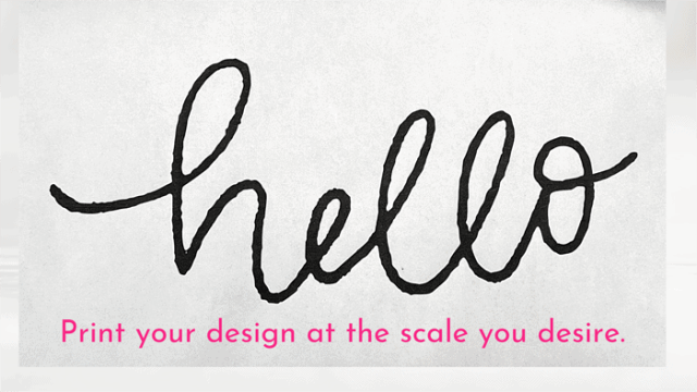 Print the text | Tile Lettering by popular US interior design blog, Fynes Designs: Pinterest image of the word 'hello' in cursive font.