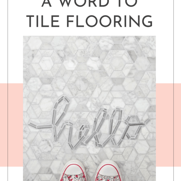 How to put a word in tile flooring