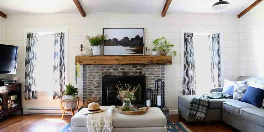 Cottage makeover with an open concept living area