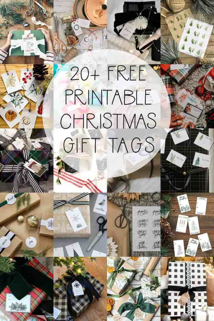 Printable Gift Tags by popular Canada DIY blog, Fynes Designs: Pinterest image of printable gift tags.