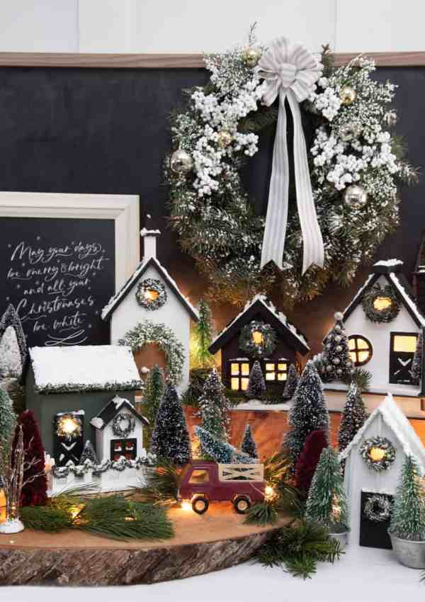Joanna Gaines Inspired Holiday Crafts: How to Make a DIY Birdhouse Christmas Village