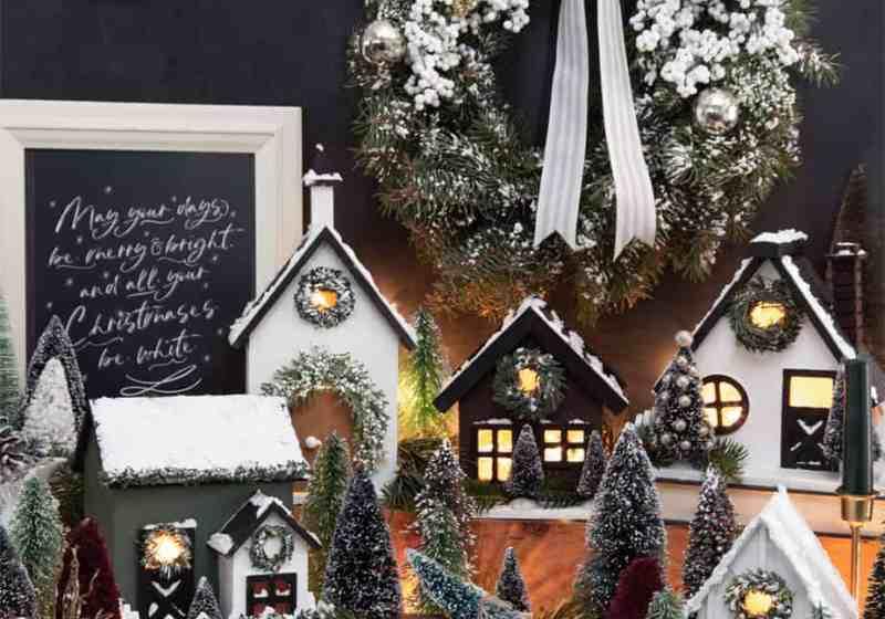 How to make a farmhouse inspired birdhouse Christmas Village