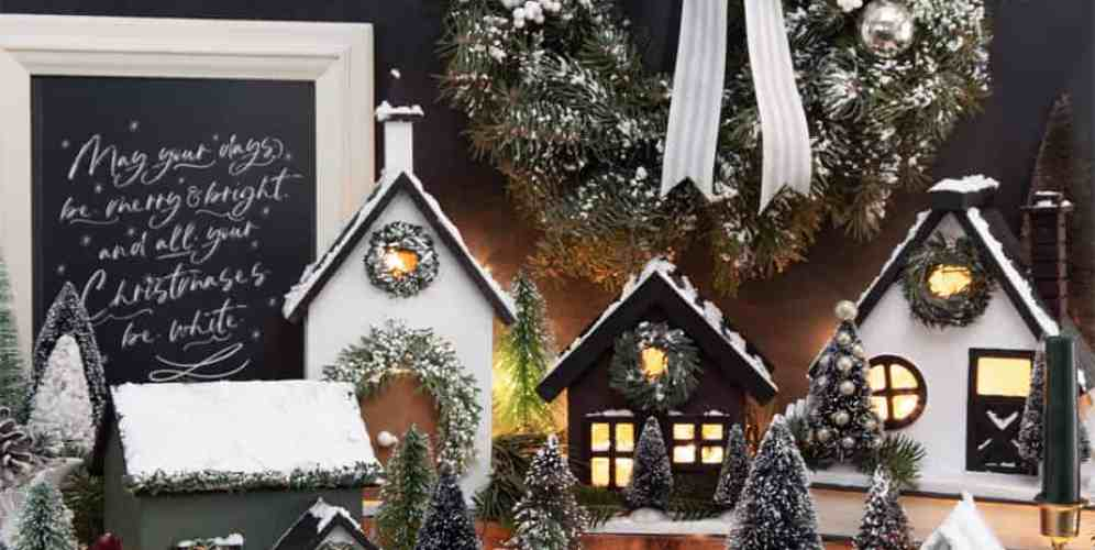 How to make a farmhouse inspired birdhouse Christmas Village