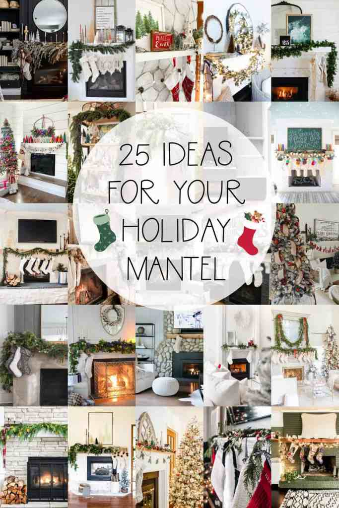 How to Hang Garland by popular Canada DIY blog, Fynes Designs: Pintertest image of Christmas mantles.
