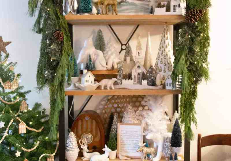 How to hang garland on a shelf