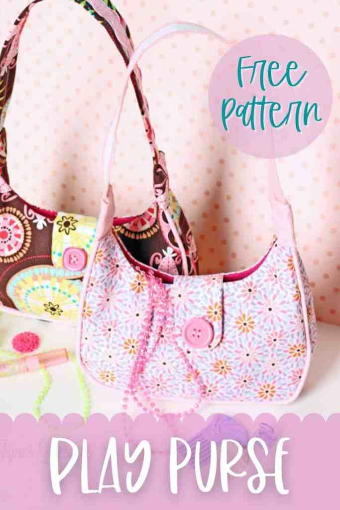 Free play purse sewing pattern. Perfect gift for girls