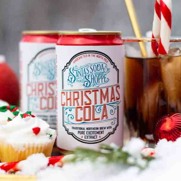 Personalize your Santa Soda with these free DIY Soda Can Labels