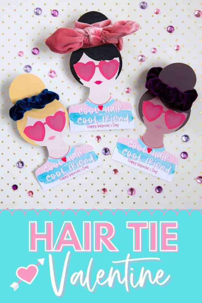 DIY Hair Tie Valentine by popular Canada DIY blog, Fynes Designs: image of DIY Hair Tie Valentines.