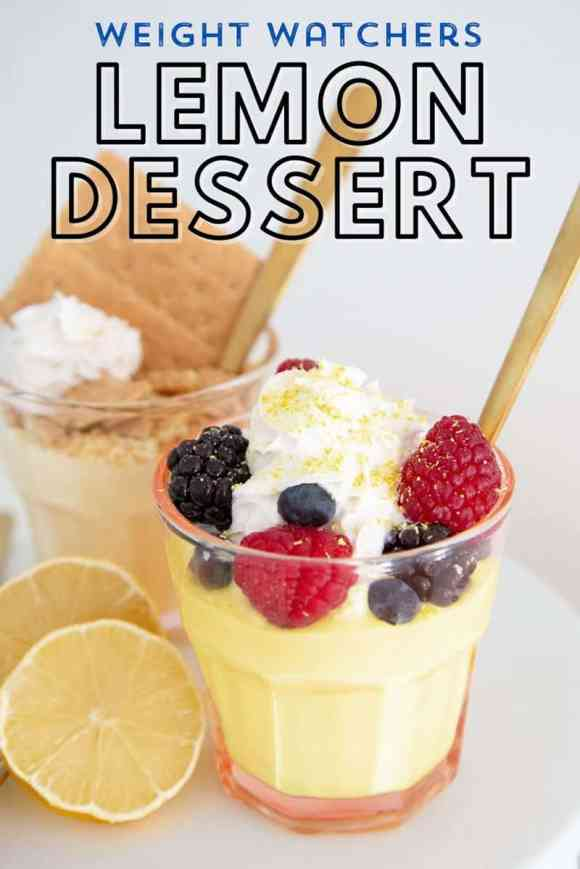 Weight Watchers 2 point Lemon Dessert. Easy to make 2 ingredient dessert is light and refreshing, and completely guilt free!