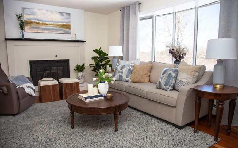 Farmhouse coastal living room refresh