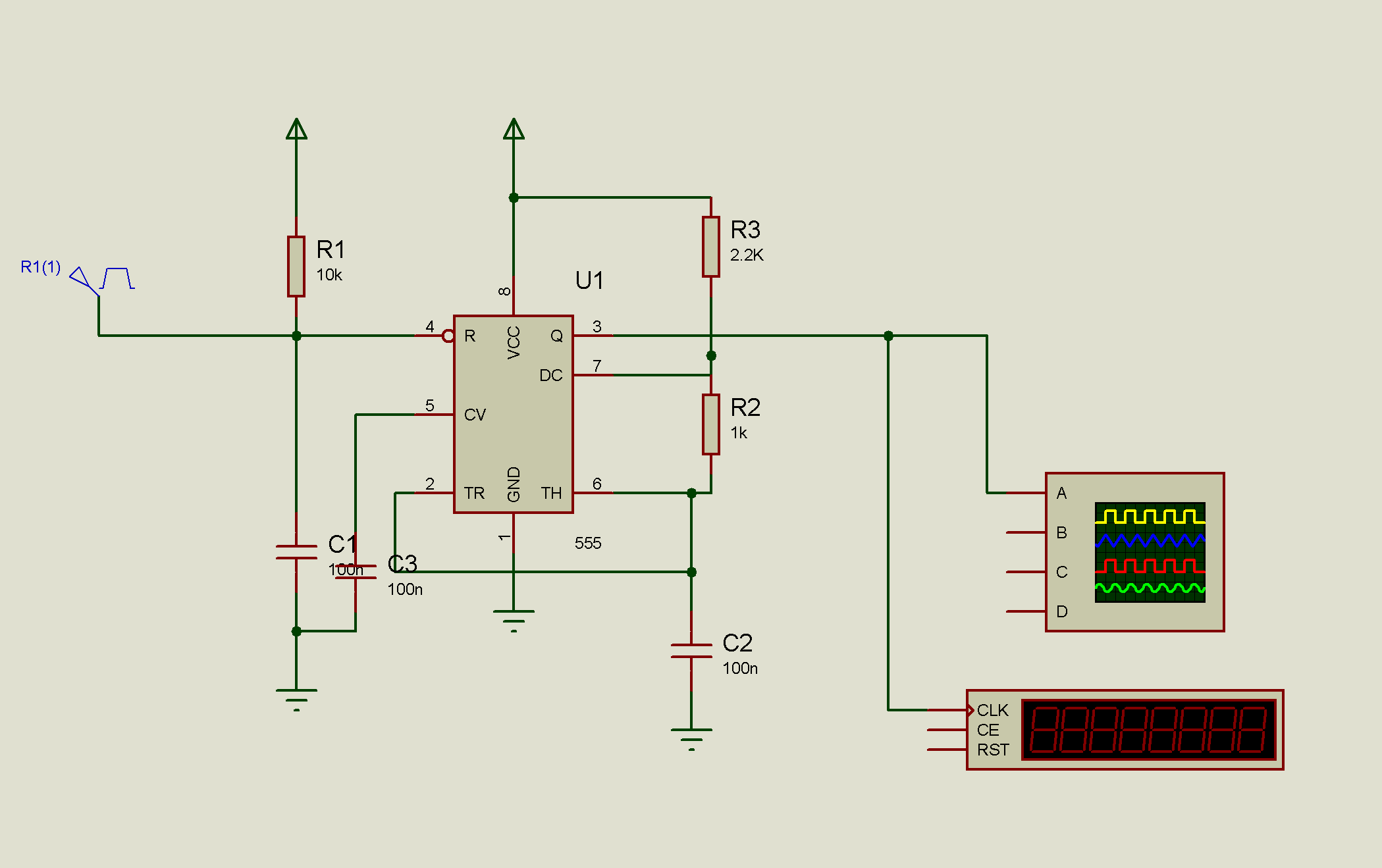 Ook Modulation Using 555 Timer Fyp Solutions Internal Circuit Of Ic