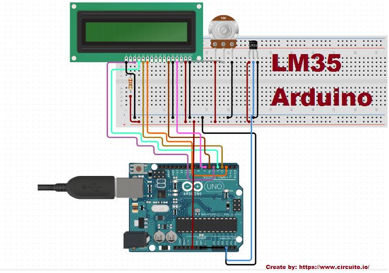 lm35 temperature sensor arduino lcd