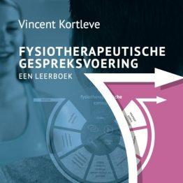 de omslag van het leerboek fysiotherapeutische gespreksvoering