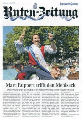 Ruten-Zeitung Titelseite verteilt am 23.07.2013