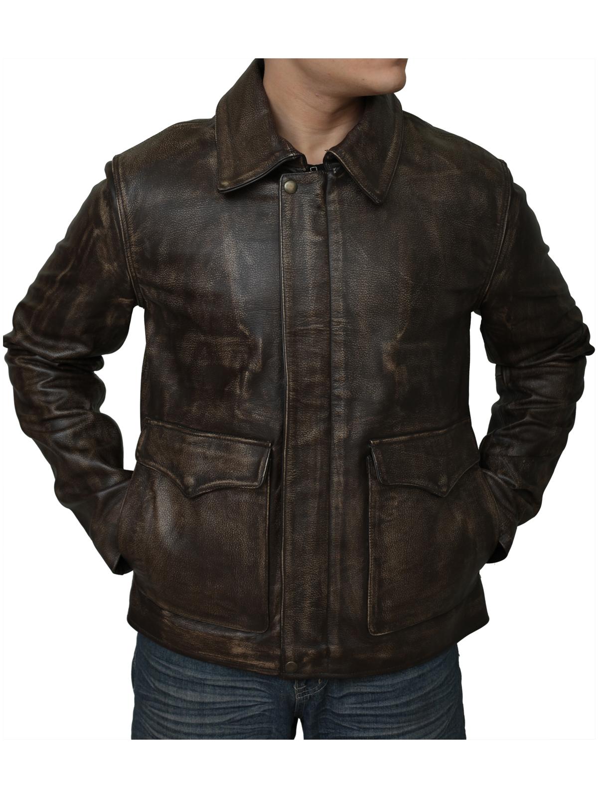 Indiana Jones Distressed Brown Leather Jacket